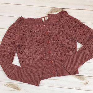 Anthropologie Moth crop cardigan sweater